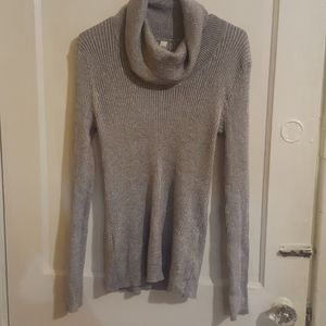Silver Cowl Sweater